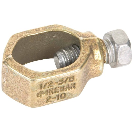 Erico 1/2 In. to 5/8 In. #10 to #2 AWG Ground Rod Clamp