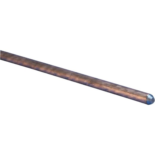 Erico 5/8 In. x 4 Ft. Steel Core Copper Bonded Ground Rod