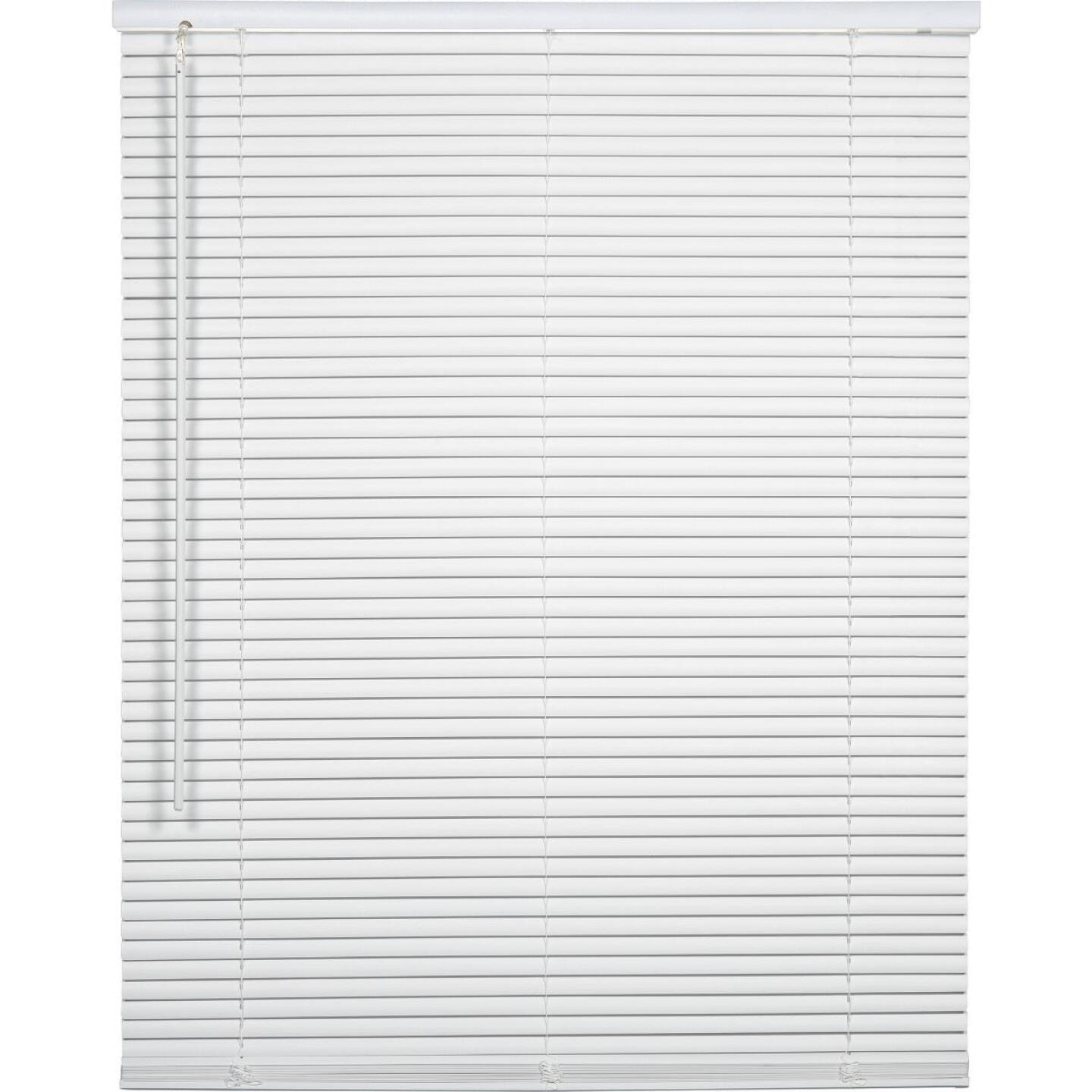 Home Impressions 29 In. x 72 In. x 1 In. White Vinyl Light Filtering Cordless Mini Blind Image 1